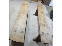 Two good solid wooden benches