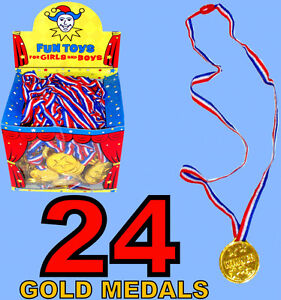 KIDS OLYMPIC GOLD WINNERS MEDALS PARTY GAMES BAG PRIZES GIFTS 6-12-24-48-100-148