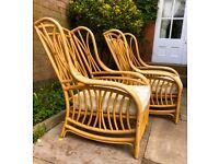 Stylish Large Natural Bamboo Chairs
