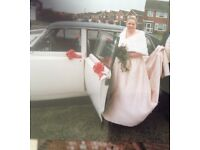 Wedding dress. Size 20-22 with faux fur stole
