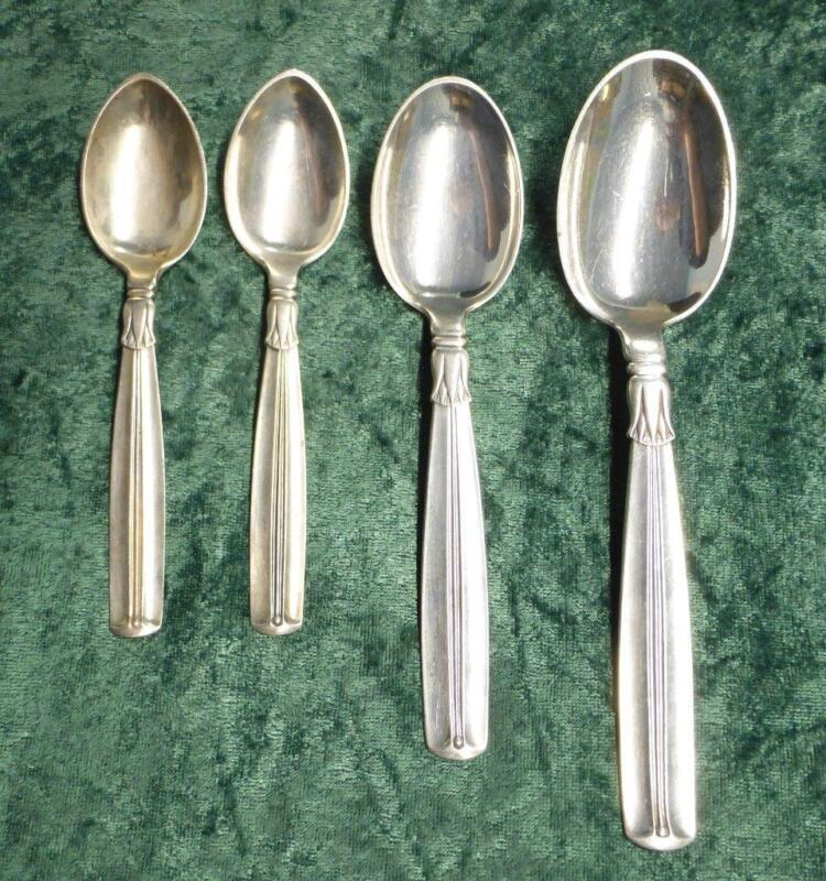 4 W&S Soerensen 160.60 Grams Sterling Silver Denmark .925 serving spoon Look