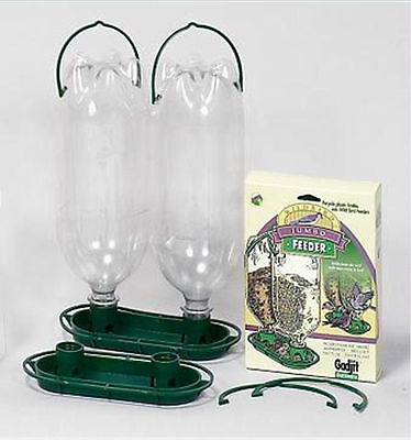 Gadjit Soda Bottle Jumbo Wild Bird Feeder Kits (GREEN) Pack of 2