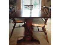 Old Charm Dining Room Table and Chairs