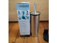 Brabantia Stainless Steel Toilet Brush with Wall Mount