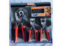 Punch pliers set, brand new, quick sale at only £10, includes a plier to make leather belt holes