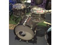 SONOR SMOKY PERSPEX 16 INCH BASS DRUM BOP KIT CONVERSION. LOOKS AND SOUNDS AWESOME.