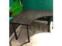 IKEA Linnmon corner desk black w/black legs