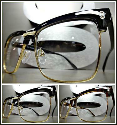Mens Women CLASSIC VINTAGE 50's RETRO Style Clear Lens EYE GLASSES Fashion Frame](50s Style Glasses)