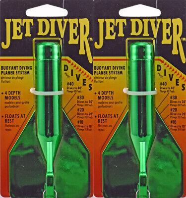 """LUHR-JENSEN JET DIVER 4-1//2/"""" DIVES 40 FT FLOURESCENT GREEN CRYSTAL 5540-040-1073"""