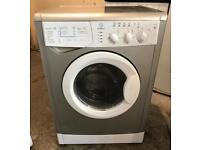Indesit WIDXL126 Silver Washer & Dryer (Fully Working & 4 Month Warranty)
