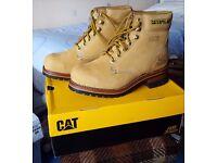 Caterpillar Steel Toe Tan Boots - UK size 6