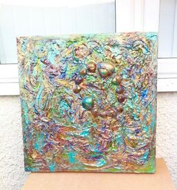 Original signed Contemporary abstract painting
