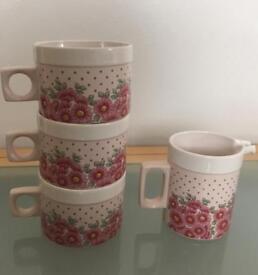 Hornsea 3 Cups & 1 Milk Jug