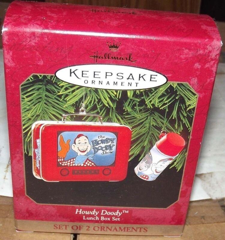 Hallmark Howdy Doody lunch box set ornament