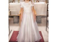 First Holy Communion dress with shoes, bag, cape and gloves
