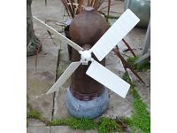 Garden Ornament Windmill moving sails Reconstituted Stone Pick Up only 50cm x 18cm