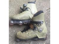Well used UK size 10.5 pair of Rollerblade CI5 aggressive skates / rollerblades