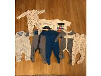Baby bundle 3-6 months sleepsuits