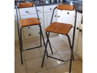 2 Ikea Folding Kitchen/Bar Stools