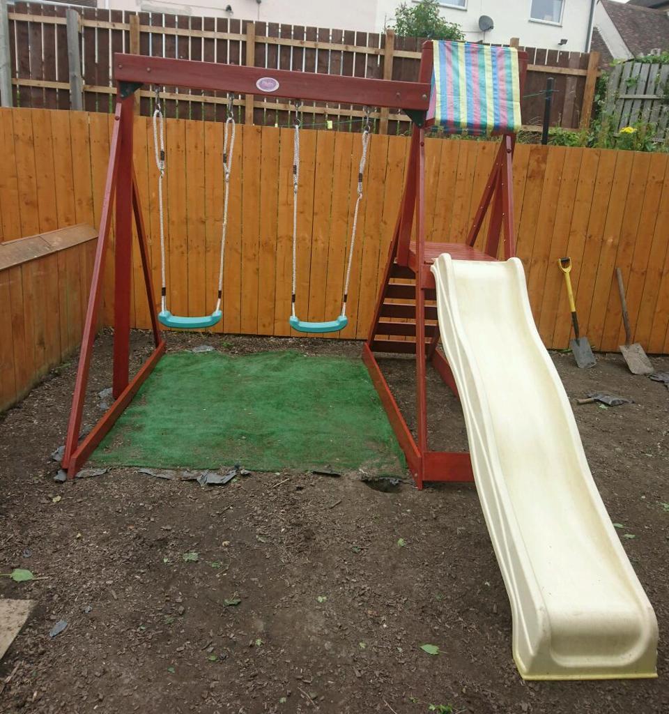 Children\'s garden play centre, climbing frame, slide, swings | in ...