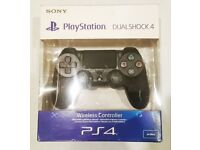 New Controller PS4 DualShock 4 Sony Wireless V2 - Black Official Version New Unpacked, Sealed, Boxed