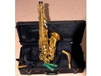 Alto Saxophone –Yamaha YAS 62 – professional model sax. Mint condition.