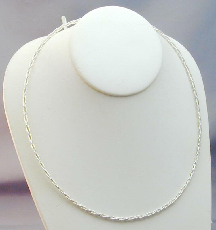 3 Strand Sterling Round Omega Braided Collar Necklace Milor Italy