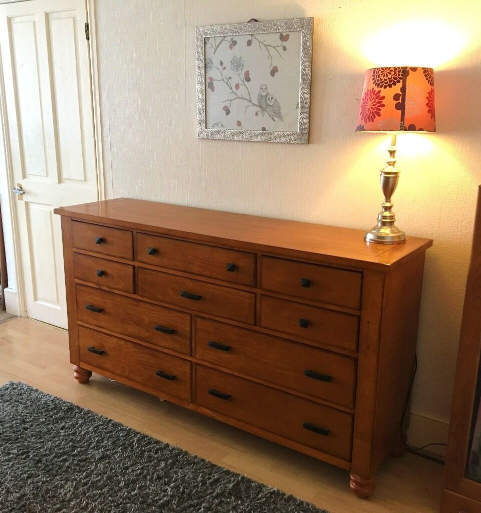 large medium chestnut dining room chest of drawers very good image 1 of 4