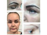 Eyebrows microblading /Classic eyelash extentions in West London/Nails