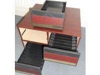 Two Retro Storage Drawer Units - £10 the pair