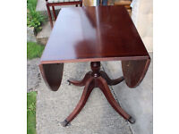 1989 Beresford and Hicks chairs and drop leaf table