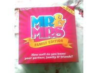 Mr & Mrs Board Game Brand New - Sealed