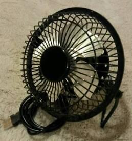 Small desk fan, usb powered.