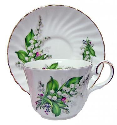 Lily of the Valley Bone China Tea Cup and Saucer, Made In England