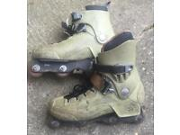 Well used UK size 10.5 pair of Rollerblade CI5 aggressive inline skates. Vintage!