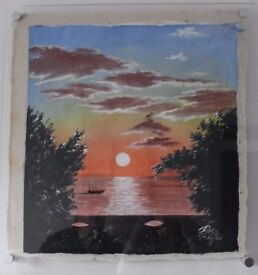 "Original Painting by ""The International Caribbean Folk Artist Basil Clayton"""