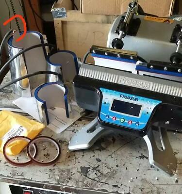 Used Mini Automatic Double Station Mug Heat Press Machine 110v Transfer Print