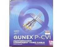QED Qunex P-CV1 Component Video Cable