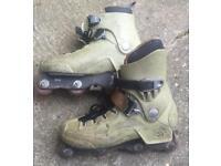 Well used UK size 10.5 pair of Rollerblade CI5 aggressive skates / rollerblades. Vintage!