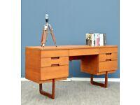 Vintage Gunther Hoffstead for Uniflex Teak Desk / Dressing Table. Delivery. Midcentury/Modern/Danish