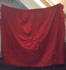 Curtains red ONLY £9