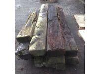 Reclaimed wooden railway sleeper