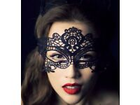 Halloween Fancy Dress Mask Party Costume Black Lace Masquerade Mask