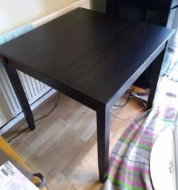 Ikea Black Square Dining Table 100cm FREE DELIVERY 165