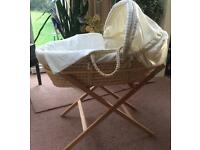 Moses Basket & Stand. Baby Crib