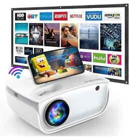 Mini WiFi Projector + Projector Screen (BNIB)