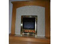 ELECTRIC COAL EFFECT FIRE WITH WOODEN SURROUND