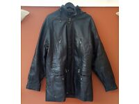 Men's Leather Jacket - Dark Brown. Perfect condition. Size XL