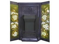 ANTIQUE FIREPLACES - VICTORIAN TILED INSERT