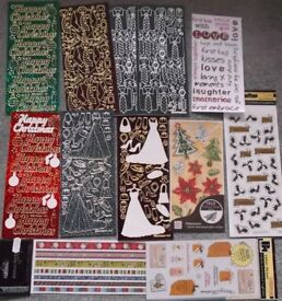 Assortment of craft stickers